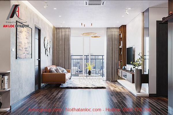 Thiết kế phòng khách chung cư 65m2