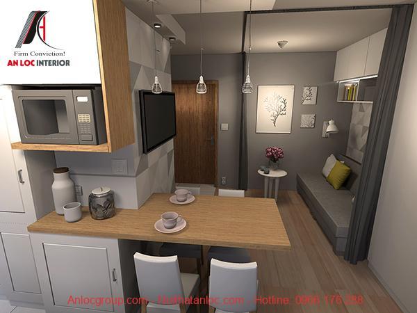 Thiết kế nội thất căn hộ studio