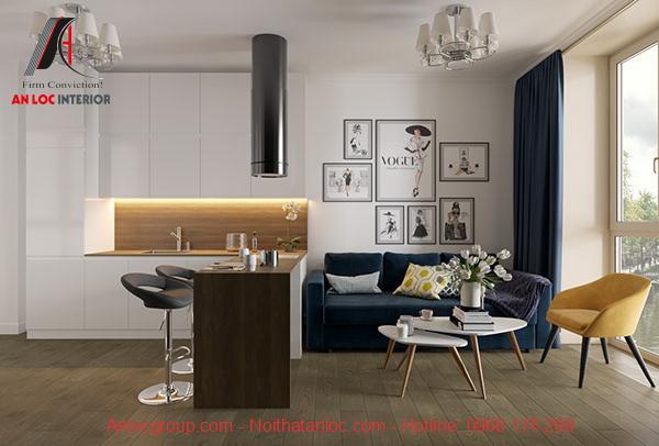 Thiết kế nội thất căn hộ 40m2