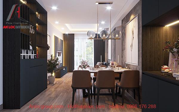 Thiết kế nội thất căn hộ 52m2