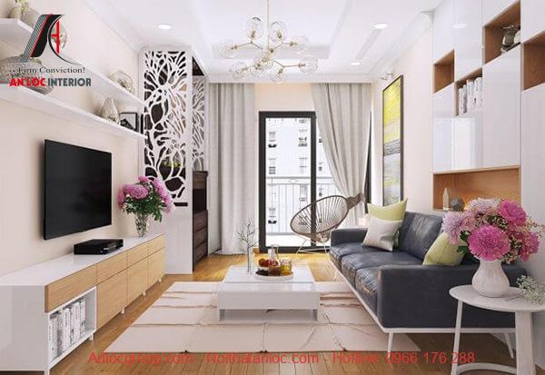 Thiết kế nội thất căn hộ 55m2