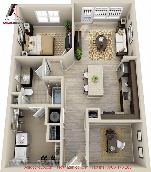 Nội thất cho căn hộ 55m2