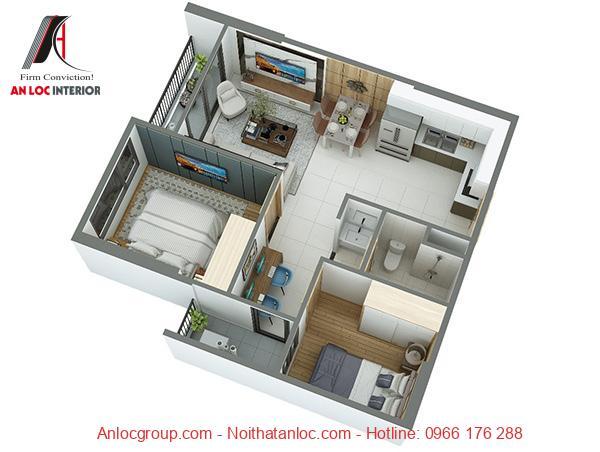 Nội thất căn hộ 55m2