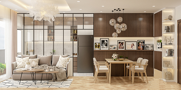 thiết kế nội thất chung cư 57m2