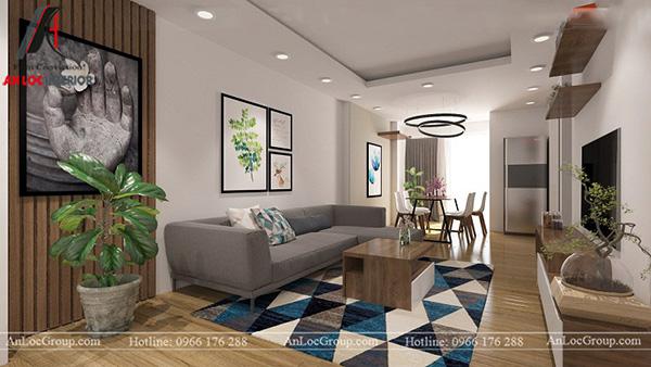 Thiết kế căn hộ 68m2