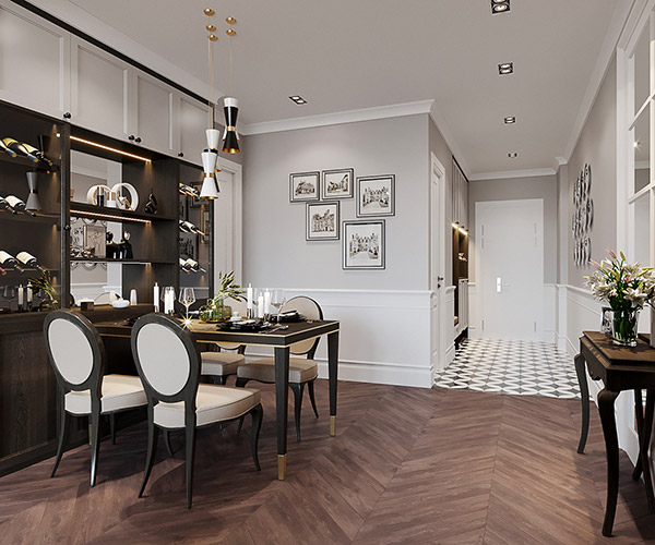 Thiết kế nội thất chung cư 75m2
