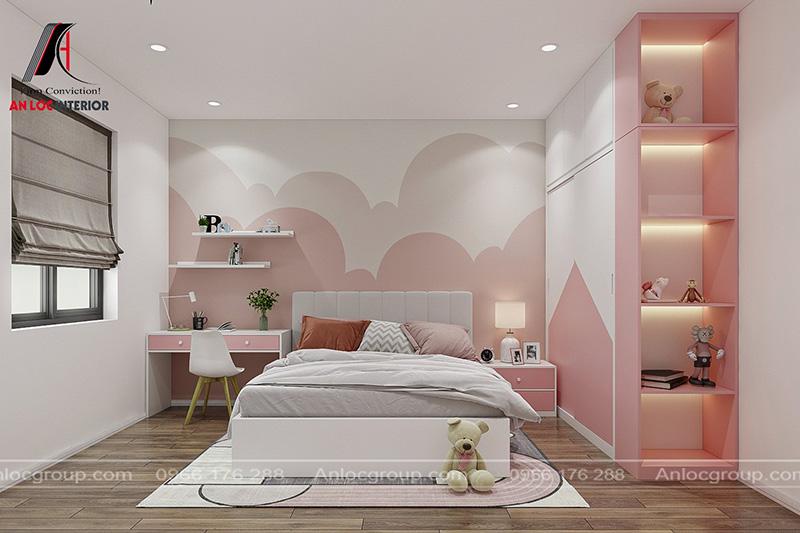 Thiết kế nội thất nhà phố 2 tầng 1 tum tại Ninh Bình