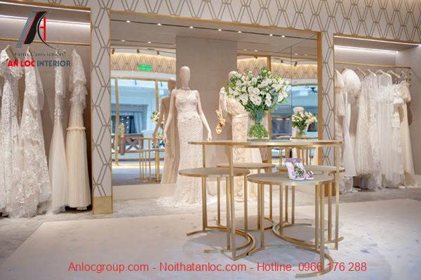 Showroom áo cưới sang trọng