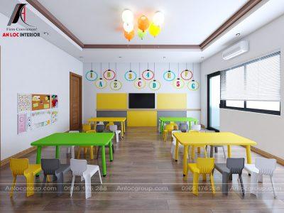 Thiết kế trường mầm non ICE phòng học 01