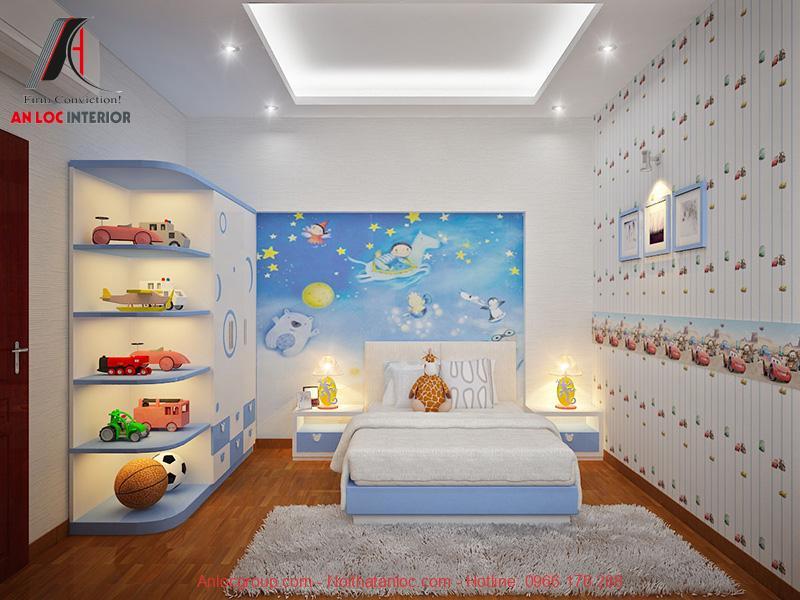 Phòng ngủ bé trai chung cư the tera an hưng