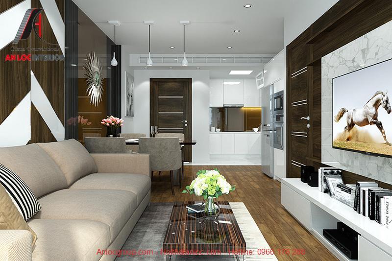 Thiết kế phòng khách chung cư The Tera An Hưng