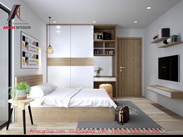 Mẫu phòng ngủ đẹp cho nhà ống