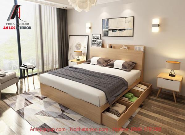 Giường ngủ có hộc kéo