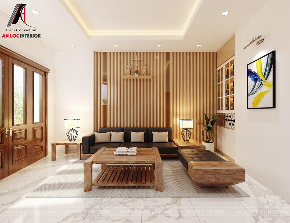 Tầng 1 nội thất phòng khách nhà phố
