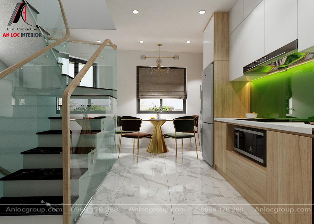Tầng 2 nội thất phòng bếp nhà phố