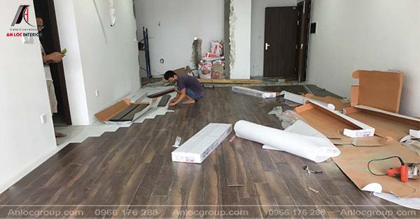 Thi công sàn gỗ cho căn hộ chung cư