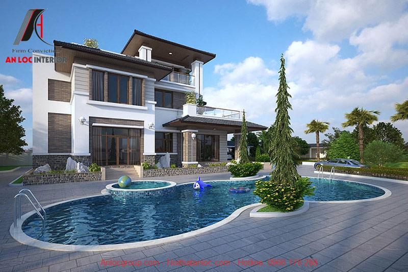 Nhà biệt thụ có bể bơi