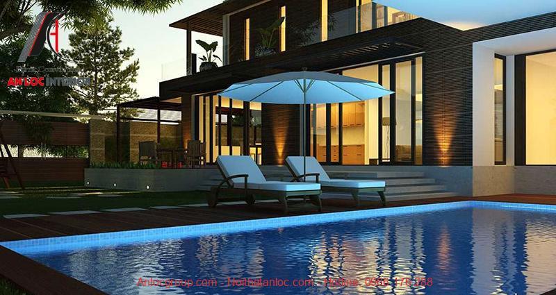 Thiết kế hồ bơi trong nhà