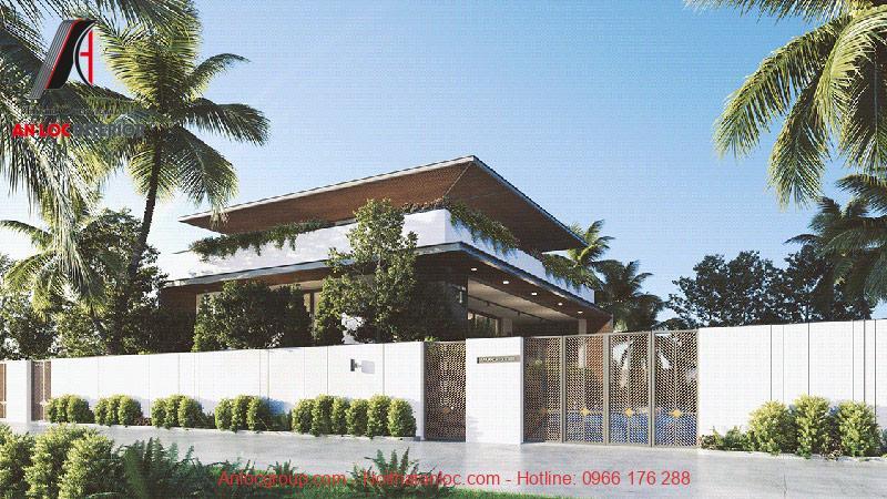 Thiết kế biệt thự hiện đại có bể bơi