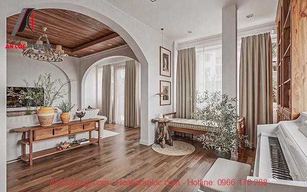 Nội thất nhà liền kề đẹp với màu sắc và ánh sáng hài hòa