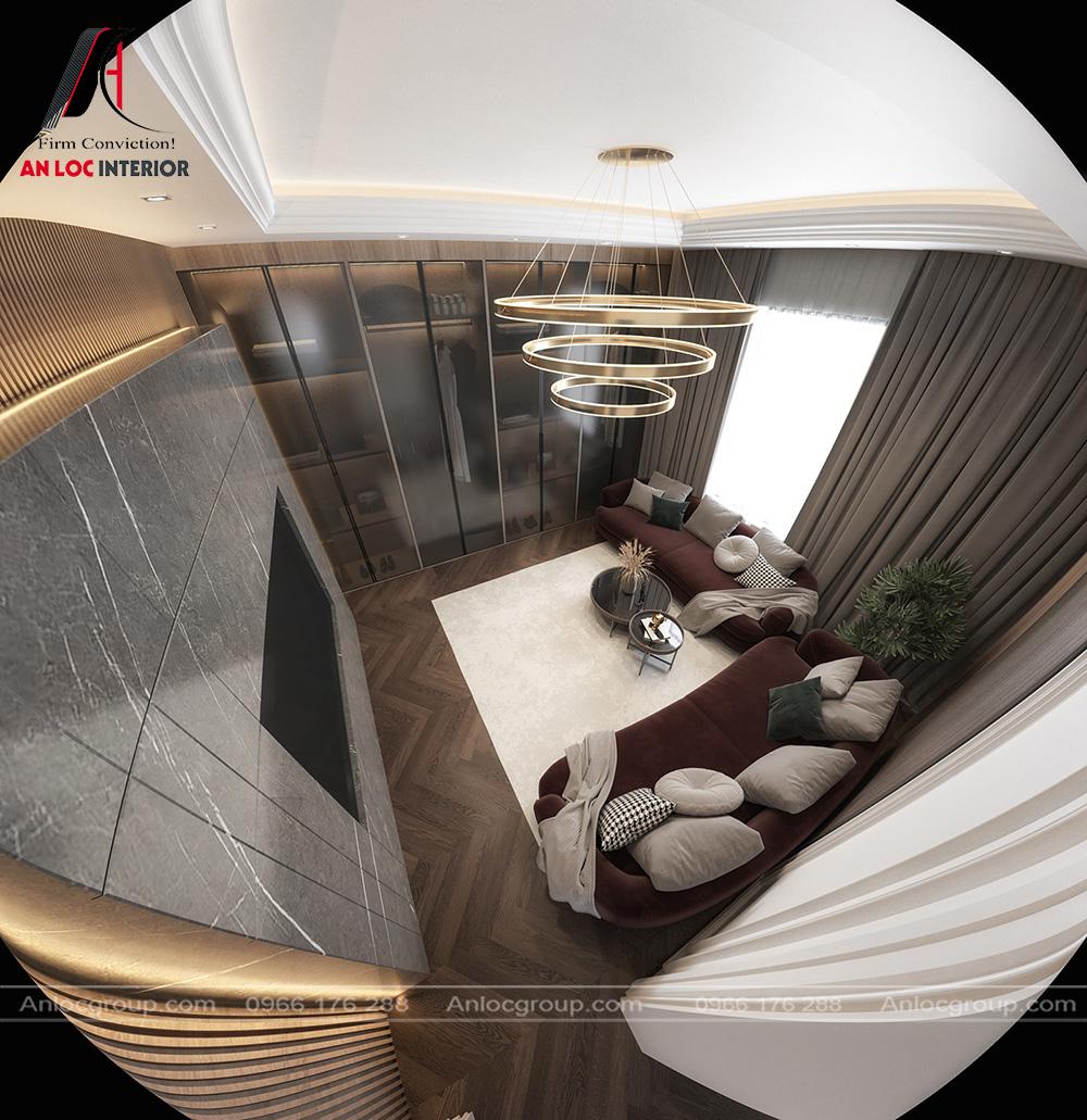 Mẫu nội thất phòng khách tân cổ điển 20