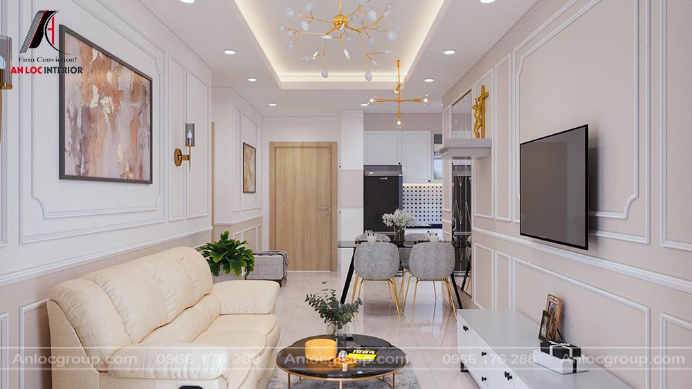 Mẫu nội thất phòng khách tân cổ điển 31