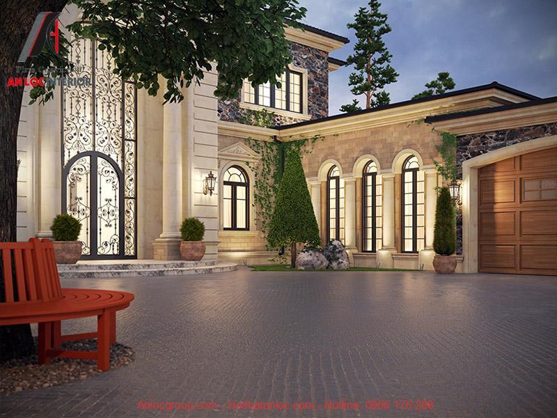 Thiết kế nội thất lâu đài biệt thự