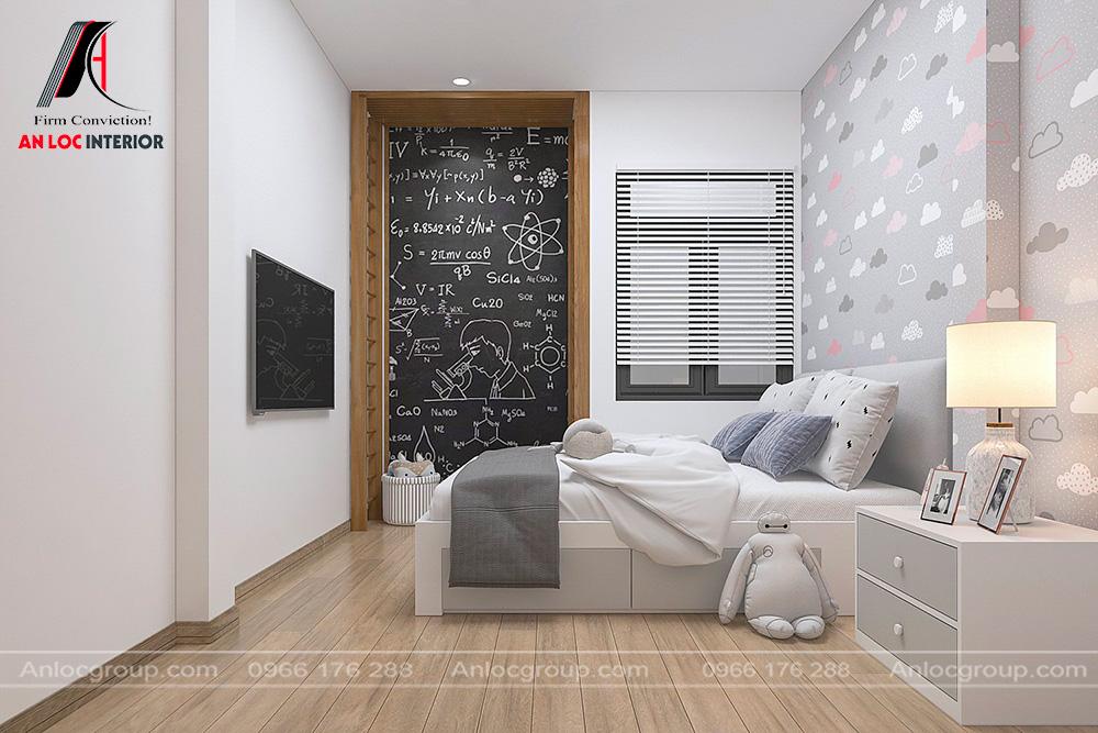 Nội thất phòng ngủ con nhà ống 2 tầng 1 tum tại Hưng Yên