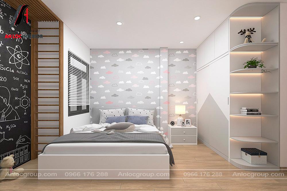 Thiết kế phòng ngủ con nhà ống