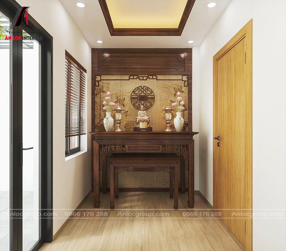 Nội thất nhà ống 2 tầng 1 tum tại Hưng Yên