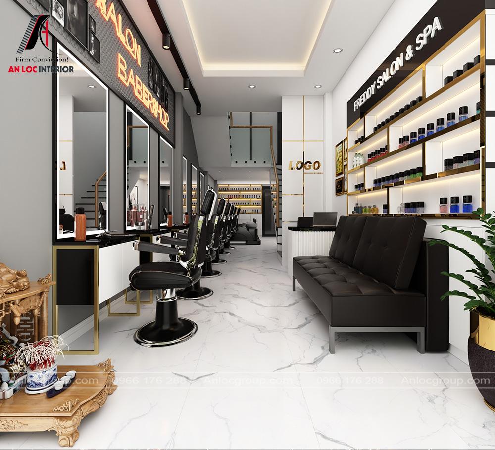 Salon tóc tại tầng 1 nhà ống