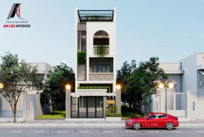 Thiết kế nhà phố 3 tầng 5x20m tại Thái Nguyên